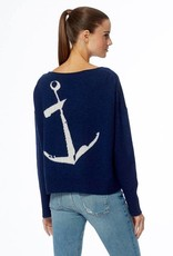 360 SWEATER Greyson Anchor Sweater - Navy/White