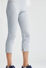 TEE LAB Cropped Legging - Gray Melange