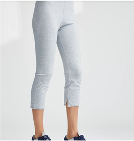 TEE LAB Cropped Legging - Gray Melange
