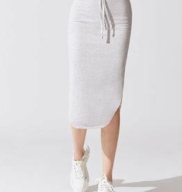 TEE LAB Long Fleece Skirt - Gray Melange