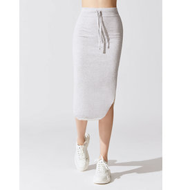 TEE LAB Long Fleece Skirt - Gray Melange