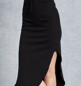 TEE LAB Long Fleece Skirt - Black