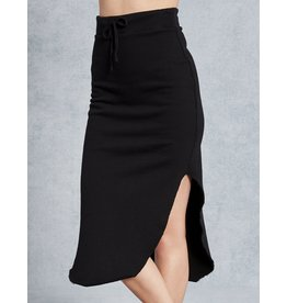 TEE LAB Long Fleece Skirt - Black