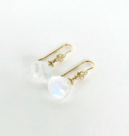 LAUREN K Rainbow Moonstone Briolette Earrings