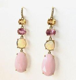 LAUREN K Citrine, Tourmaline & Opal Joyce Earrings