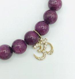 SYDNEY EVAN Natural Ruby & Om Bracelet
