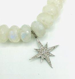 SYDNEY EVAN Rainbow Moonstone & Starburst Bracelet