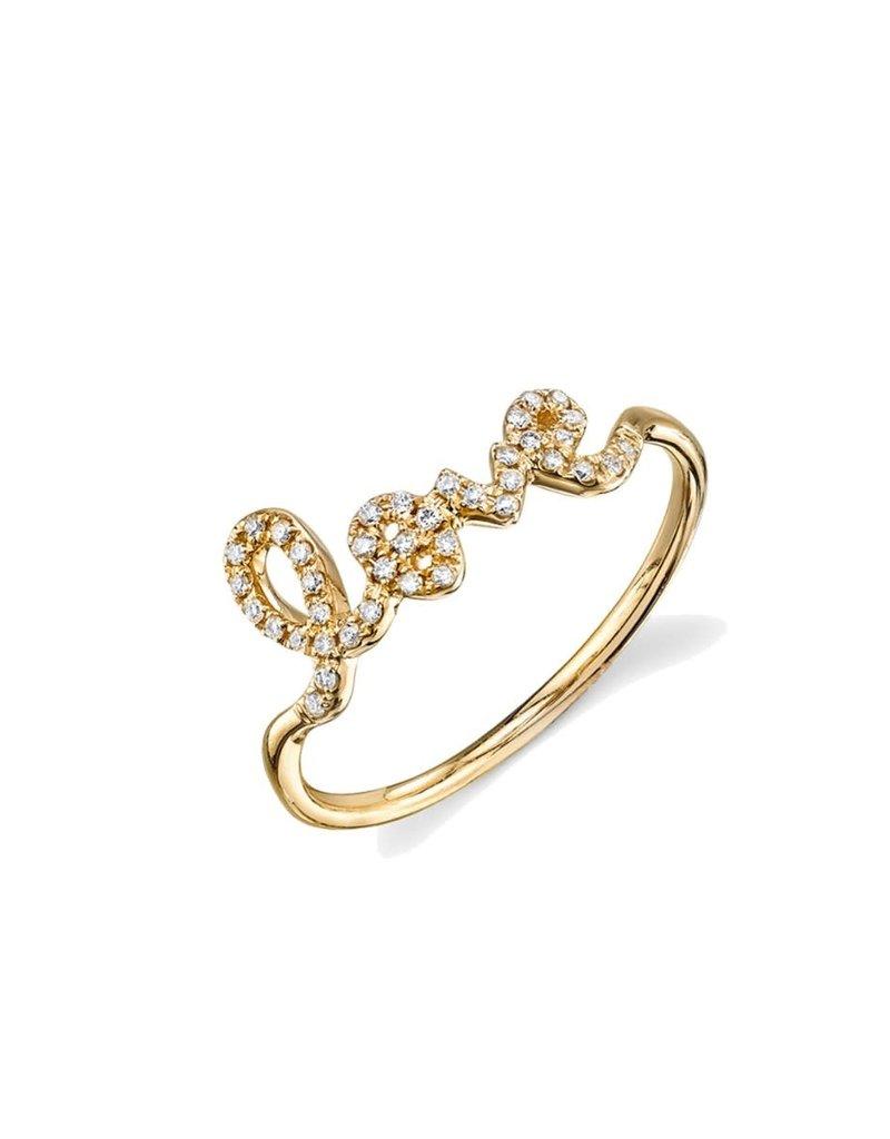 SYDNEY EVAN Diamond Love Ring - Size 6 1/4