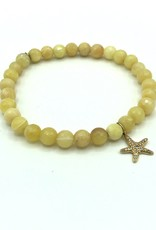 SYDNEY EVAN Yellow Beryl & Starfish Bracelet