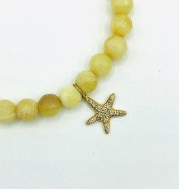 SYDNEY EVAN Yellow Beryl & Starfish Bracelet