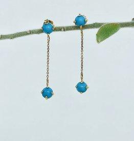 SHANNON JOHNSON 2 Sleeping Beauty Turquoise Dangle Earrings