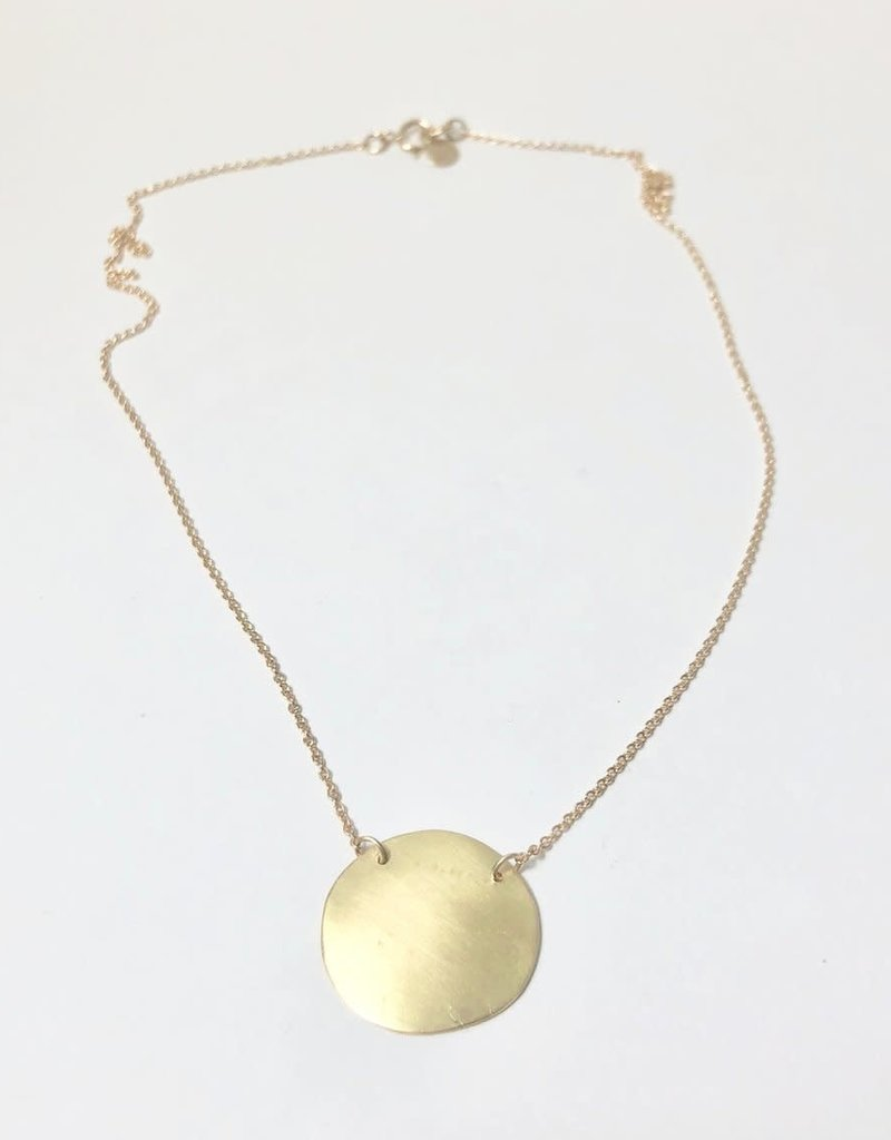 SHANNON JOHNSON 18K Gold Disc Necklace
