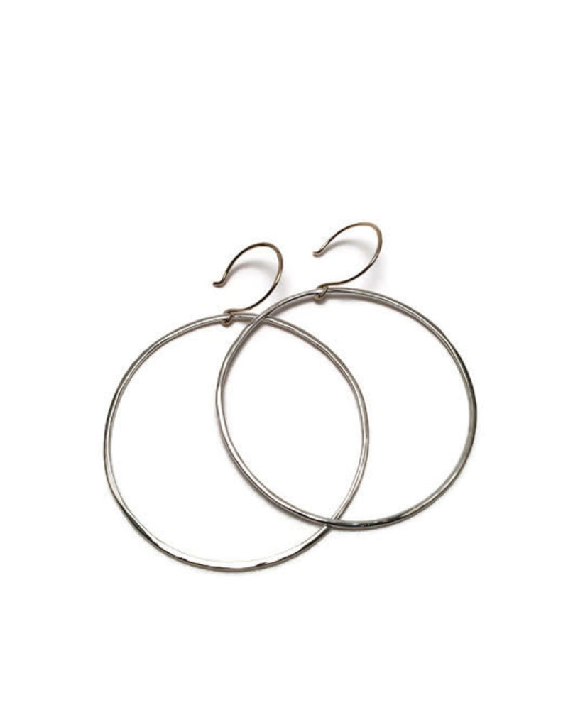 SHANNON JOHNSON Sterling Silver Signature Hoops - Large