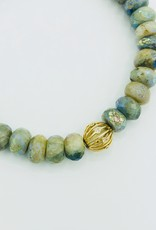 SYDNEY EVAN AB Aquamarine & Wire Ball Bracelet
