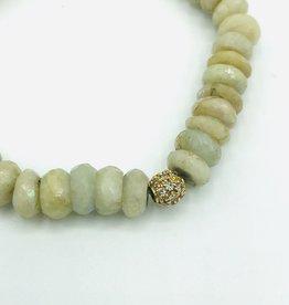 SYDNEY EVAN Aquamarine & Pave Ball Bracelet