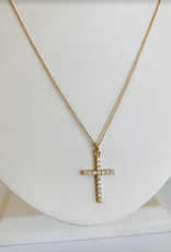 LAUREN FINE JEWELRY Diamond Cross Necklace