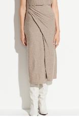 VINCE Draped Skirt - Heather Dove Oat