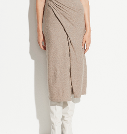 VINCE Draped Skirt - Heather Dove Oat