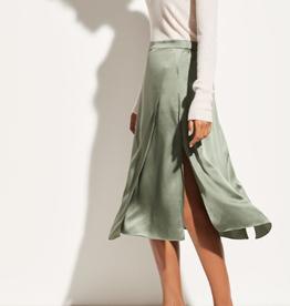 VINCE Drape Panel Skirt - Sage Flint
