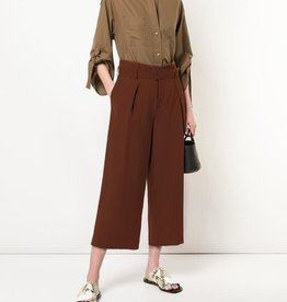 VINCE Belted Culotte Pant - Canyon Oak