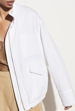 VINCE Casual Military Jacket - Optic White