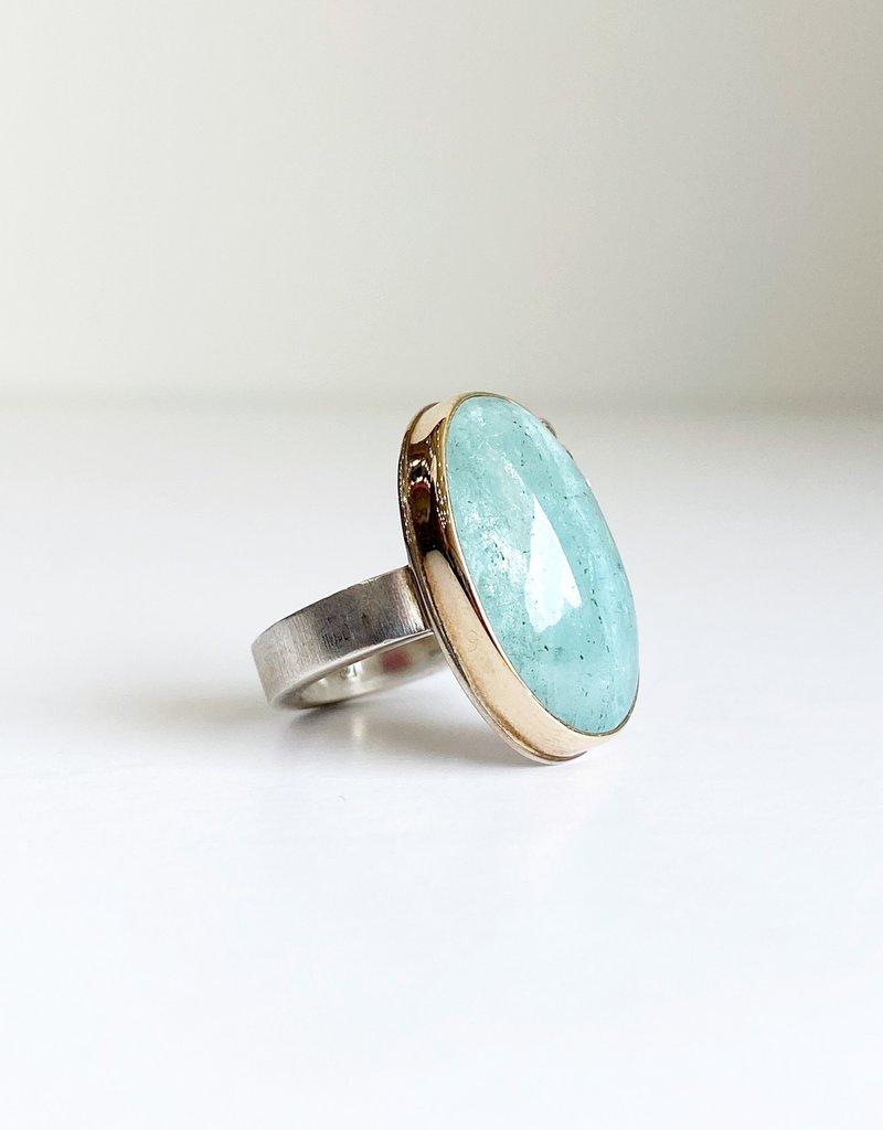 JAMIE JOSEPH Aquamarine Ring with Diamonds