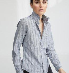 FRANK & EILEEN Barry - Grey + Black + White Multi Stripe