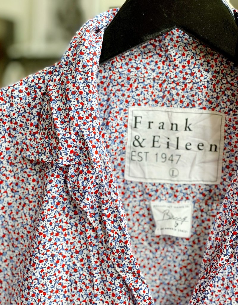 FRANK & EILEEN Barry - Red Navy White Floral