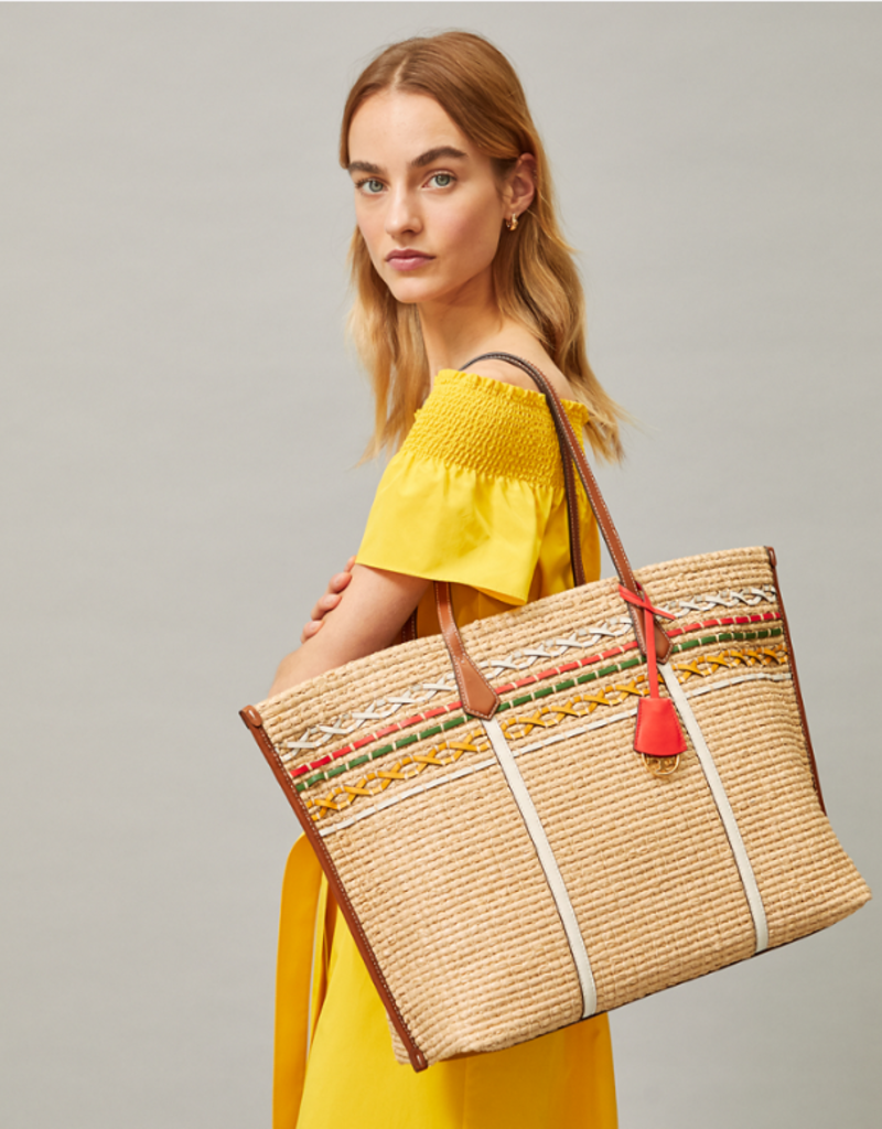 TORY BURCH Perry Straw Oversized Tote - Natural