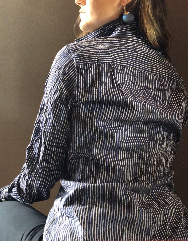 FRANK & EILEEN Barry - Blue w/ Textured Stripe