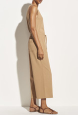 VINCE Cropped Wide Leg Pull On Pant - Dune