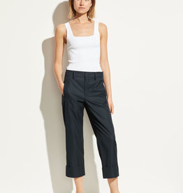 VINCE Cuffed Wide Leg Pant- Black