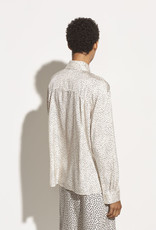 VINCE Ditsy Dot Long Sleeve Blouse - Chiffon