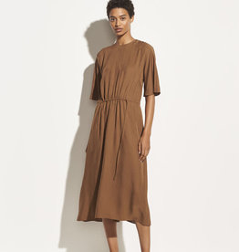 VINCE Drape Twill T-Shirt Dress - Palo Santo