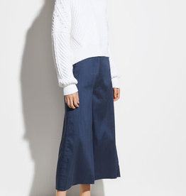 VINCE High Rise Linen Culotte - Ink Bay