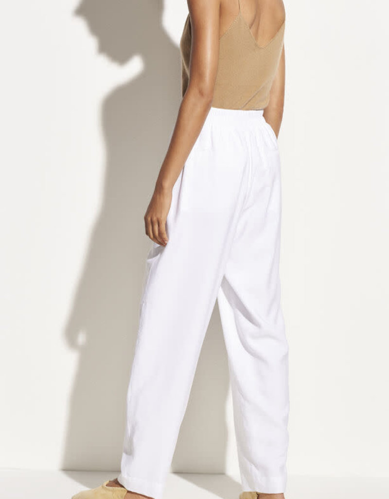 VINCE Pleat Front Tapered Trouser - Optic White