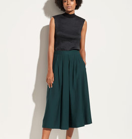 VINCE Pleated Culotte - Dark Watercress