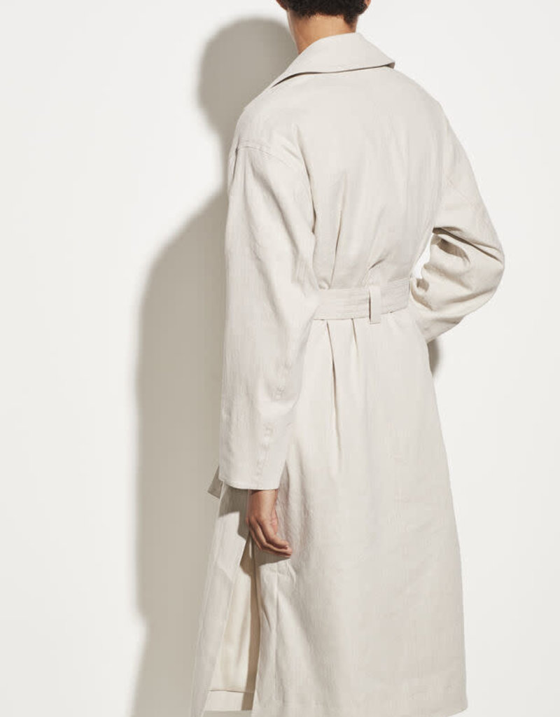 VINCE Side Slit Trench - Heather Cement