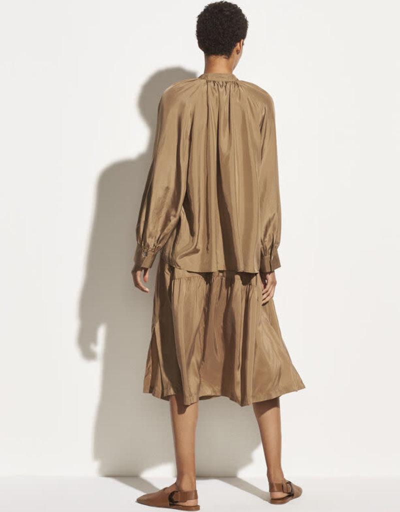 VINCE Silk Poet Popover - Timber