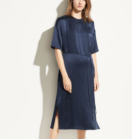 VINCE Seamed Front Dress - Marine
