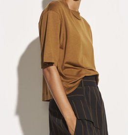 VINCE Wide Sleeve Crop Tee - Pecan
