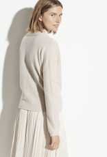 VINCE Wrap Front Pullover - Heather Dove Oat Size Medium