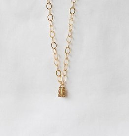 SENNOD Flat Cable Vignette Chain - Gold 20""