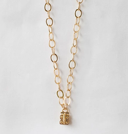 SENNOD Flat Cable Vignette Chain - Gold 30""