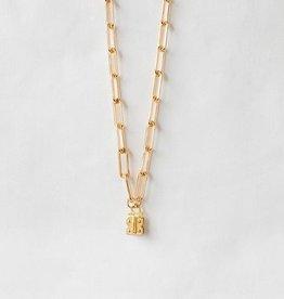 "SENNOD Paperclip Vignette Chain - Gold 30"""