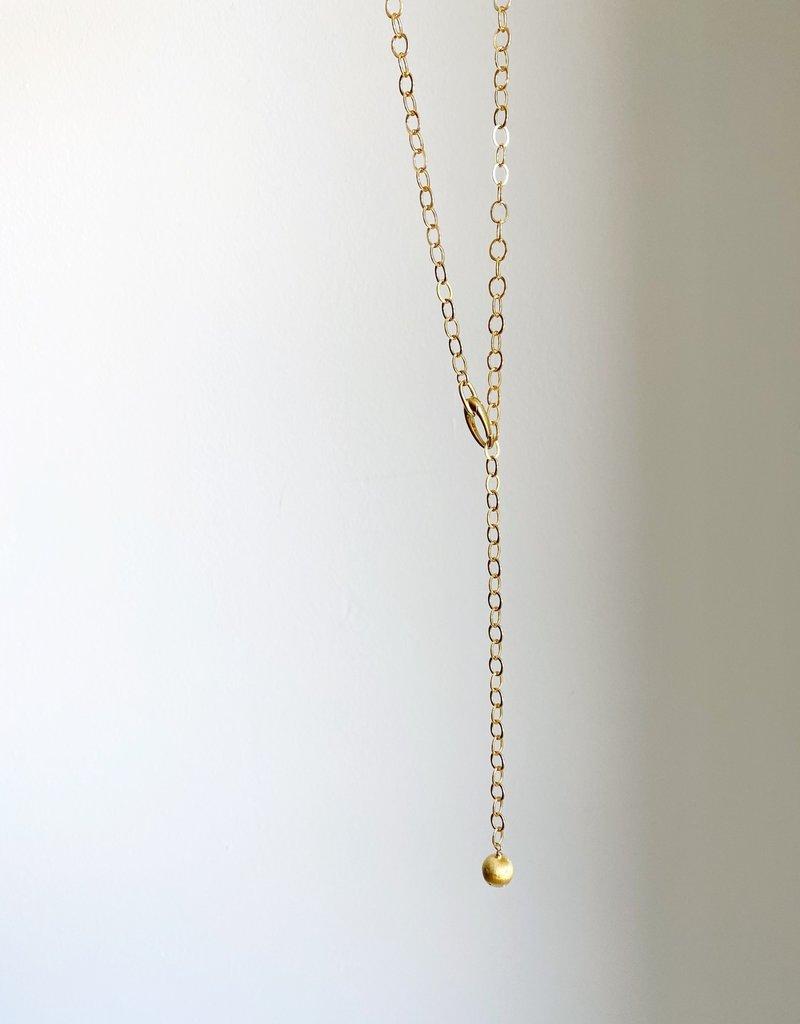 SENNOD Italian Lobster Clasp + Ball Necklace