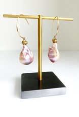 SENNOD Baroque Pearl with Shepard Hook Earrings