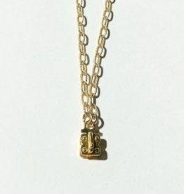 """SENNOD Matte Vignette Chain 30"""" - Gold"""