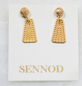 SENNOD Pebble with Diamond Domed Post Earring
