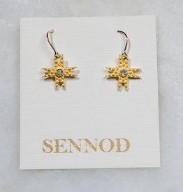 SENNOD TRUNK SHOW Pebble Star Earring - Crystal Quartz